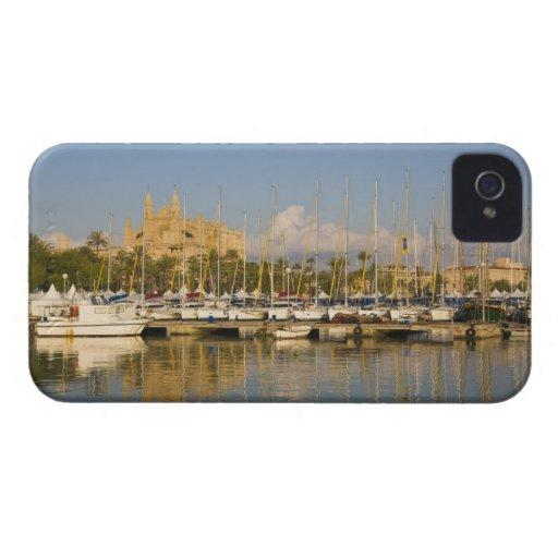 Cathedral and marina, Palma, Mallorca, Spain Blackberry Bold Covers