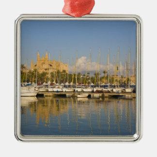 Cathedral and marina, Palma, Mallorca, Spain Metal Ornament