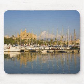 Cathedral and marina, Palma, Mallorca, Spain Mouse Pad