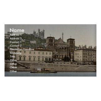 Cathedral and Notre Dame de Fourviere Lyons Fran Business Cards