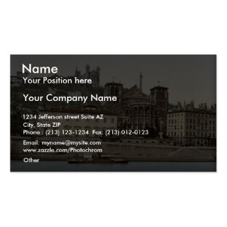 Cathedral and Notre Dame de Fourviere Lyons Fran Business Card Template