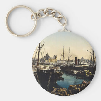 Cathedral and Notre Dame de la Garde, Marseilles, Basic Round Button Keychain