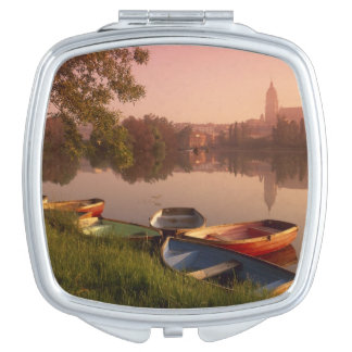 Cathedral and River Tormes, Salamanca, Castile Compact Mirror