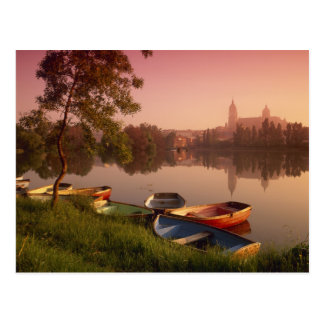 Cathedral and River Tormes, Salamanca, Castile Postcard