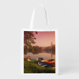 Cathedral and River Tormes, Salamanca, Castile Grocery Bag