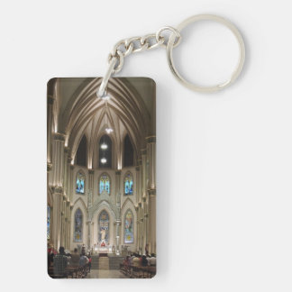 Cathedral-Arches & Glass - Guayaquil, Ecuador Keychain