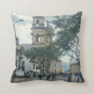 Cathedral at Historic Center of Bogota Colombia Throw Pillow