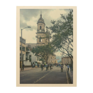 Cathedral at Historic Center of Bogota Colombia Wood Wall Art