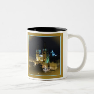 Cathedral at Night-Guayaquil, Ecuador Two-Tone Coffee Mug