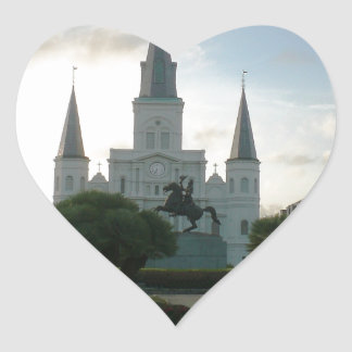 Cathedral Basilica of Saint Louis Heart Sticker