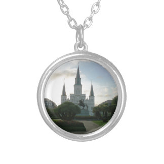 Cathedral Basilica of Saint Louis Silver Plated Necklace
