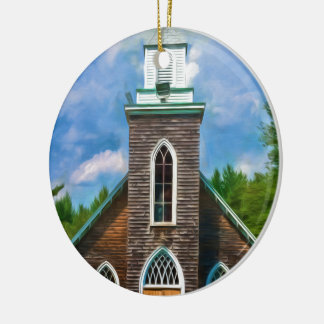 Cathedral Camp Ornament Round