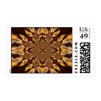 Cathedral Candle Gold Ivory Pearl Abstract Art Stamps