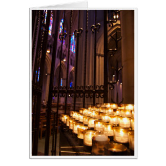 Cathedral Candles Greeting Card