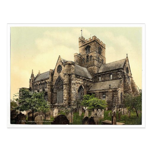 Cathedral, Carlisle, England vintage Photochrom Postcard