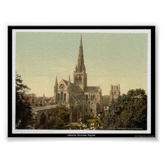 Cathedral, Chichester, England Poster