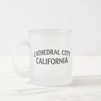 Cathedral City California 10 Oz Frosted Glass Coffee Mug