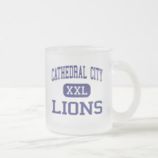 Cathedral City - Lions - High - Cathedral City 10 Oz Frosted Glass Coffee Mug