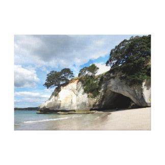 Cathedral Cove Coromandel Peninsula New Zealand Canvas Print