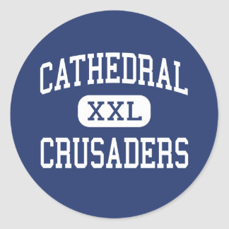 Cathedral - Crusaders - High - Saint Cloud Classic Round Sticker