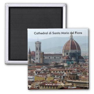 Cathedral di Santa Maria del Fiore 2 Inch Square Magnet