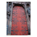 Cathedral Door Strasbourg, France Greeting Card