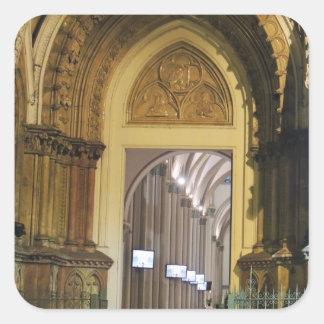 Cathedral Doors - Ecuador Square Sticker