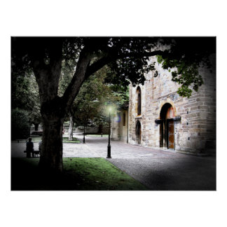 Cathedral Entryway and Gardens Poster