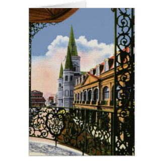 Cathedral From Balcony Christmas Greeting Cards