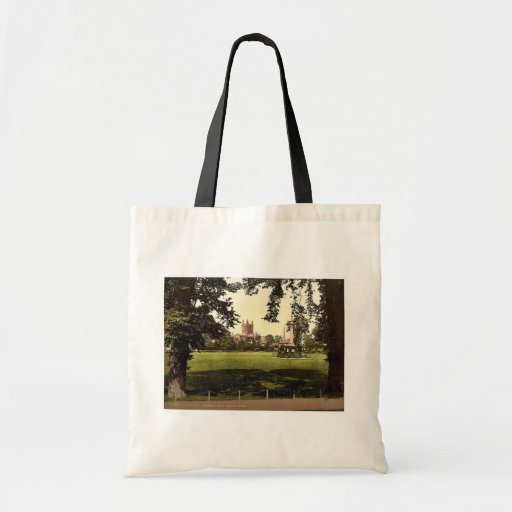 Cathedral from Castle Green, Hereford, England rar Canvas Bags