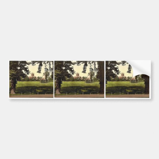Cathedral from Castle Green, Hereford, England rar Bumper Stickers