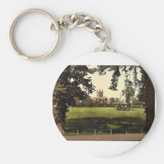 Cathedral from Castle Green, Hereford, England rar Keychains