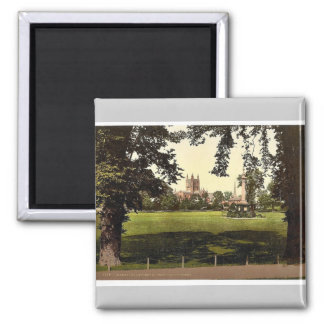 Cathedral from Castle Green, Hereford, England rar Fridge Magnet