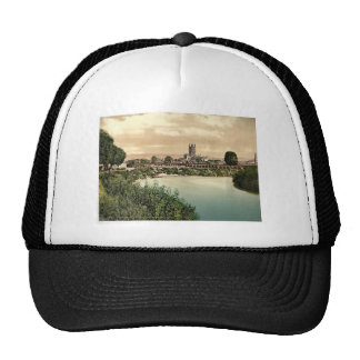 Cathedral from river, Gloucester, England rare Pho Hats