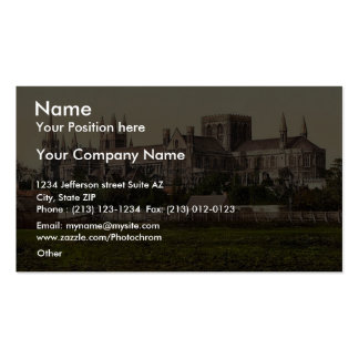 Cathedral, from south, Peterborough, England rare Business Cards