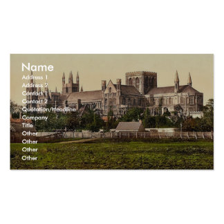 Cathedral, from south, Peterborough, England rare Business Card Template