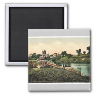 Cathedral from Wye Meadows, Hereford, England rare Refrigerator Magnet