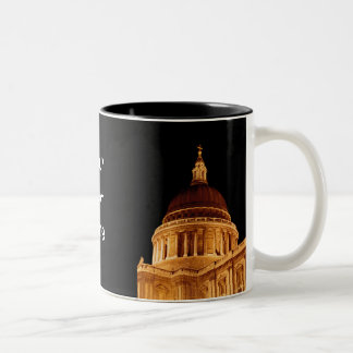 Cathedral Glows at Night St Pauls London Cup Two-Tone Coffee Mug
