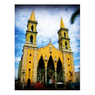 Cathedral In Mazatlan Mexico Church Postcard