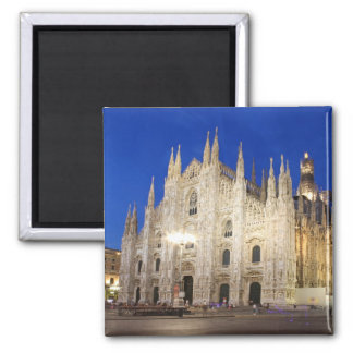 Cathedral  in Milan 2 Inch Square Magnet