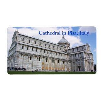Cathedral in Pisa label