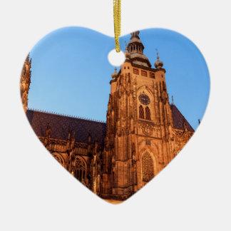Cathedral in Prague Ceramic Ornament