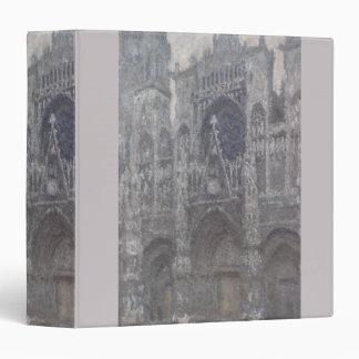 Cathedral in Rouen Portal Grey Weather by Monet Vinyl Binder