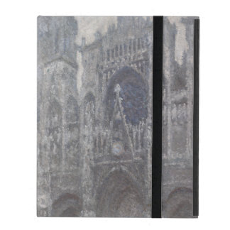 Cathedral in Rouen Portal Grey Weather by Monet iPad Folio Cases