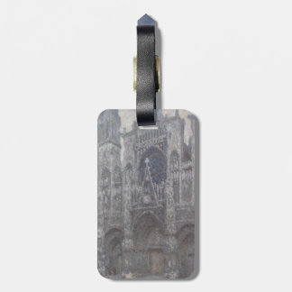 Cathedral in Rouen Portal Grey Weather by Monet Tags For Luggage