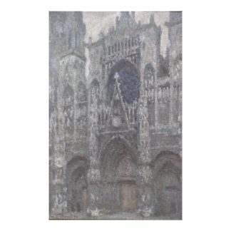 Cathedral in Rouen Portal Grey Weather by Monet Art Photo