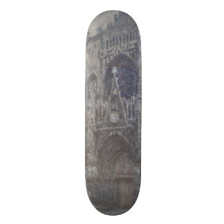 Cathedral in Rouen Portal Grey Weather by Monet Skateboard Deck