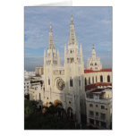 Cathedral in the Morning - Guayaquil - Ecuador Card