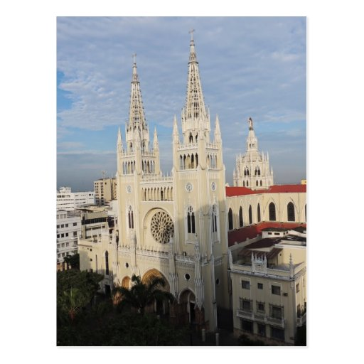 Cathedral in the Morning - Guayaquil - Ecuador Postcards
