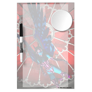 Cathedral Invader Dry Erase Board With Mirror